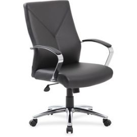Leatherplus Executive Chair with Chrome Accent