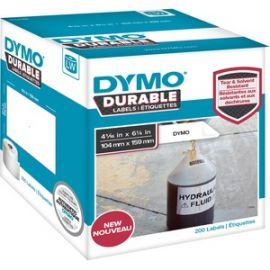 """LW Durable 4-1/16"""" x 6-1/4"""" (104 mm x 159 mm) White Poly, 200 labels"""