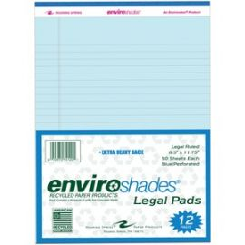 Enviroshades 8.5x11.75 Legal 12/PK Blue