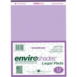 Enviroshades 8.5x11.75 Legal 12/PK Orchid