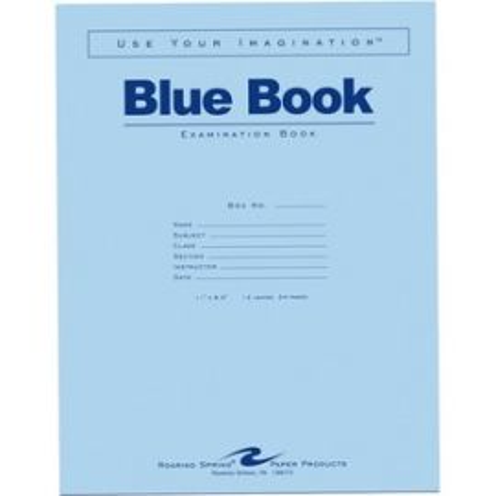 "Blue Book 11""x8.5"" WM 12 SHT/24 Page"