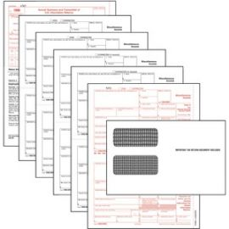 5-part 1099-NEC Tax Forms
