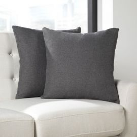 OFM 161 Collection Mid Century Modern 2-Pack 18 x 18 Accent Pillows, Dark Gray (161-PIL01-DGRY-2)
