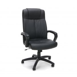 Essentials by OFM ESS-103 High Back Bonded Leather Manager's Chair, Black