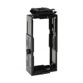 OFM Essentials Collection Adjustable Under Desk Computer CPU Holder, in Black (ESS-8900-BLK)