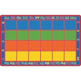 Primary Colors Square Grids Rug