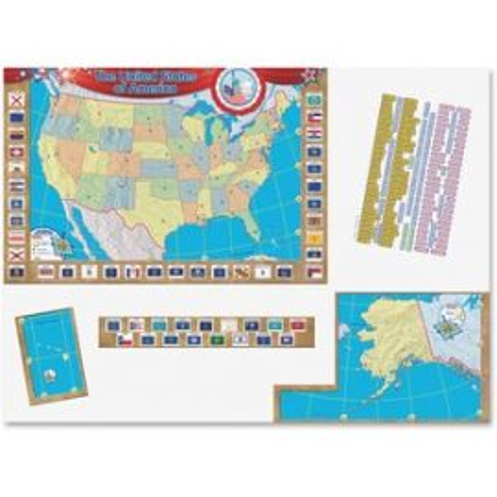 US Map Bulletin Board Display