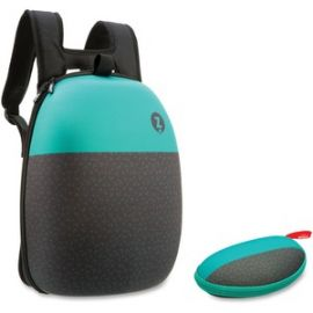 Black/Green Design Shell Backpack Set