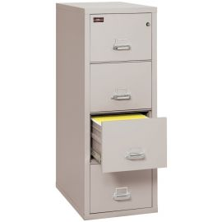 "FireKing Fireproof 2 Hour Fire Resistant File Cabinet - 4 Drawer Letter 31"" depth - 4-1956-2PL (Impact Resistant, Waterproof), Platinum"