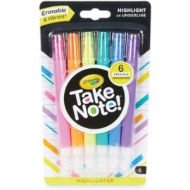 Take Note Erasable Highlighters