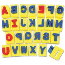 Alphabet Paint Handle Sponges
