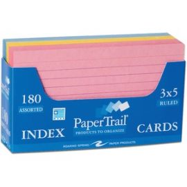 Trayed Index Cards