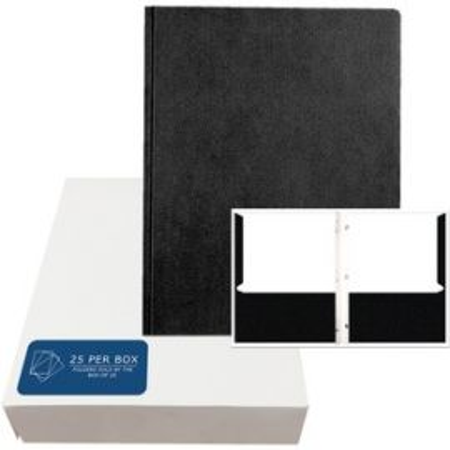 "Pockets&Prongs 11.75""x9.5"" Black 25/Box"