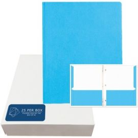 "Pockets&Prongs 11.75""x9.5"" Light Blue 25/Box"