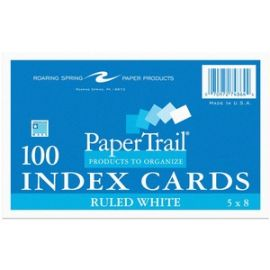 """Index Cards 5""""x8"""" Ruled White"""