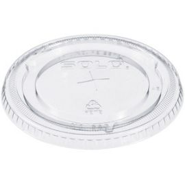 Cup Straw Slotted Clear Lids