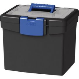 File Storage Box, XL Storage Lid, Black/Blue (2 units/pack)