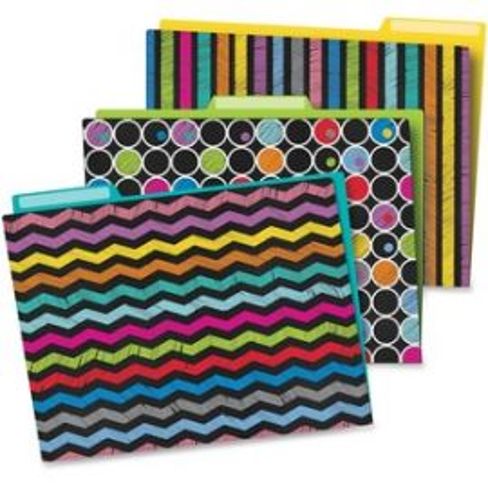 Colorful Chalkboard File Folders Set