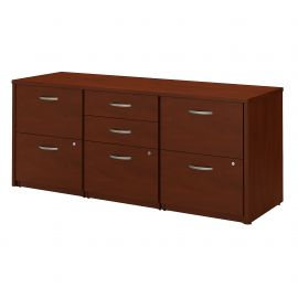 Bush Business Furniture Series C Elite Storage Credenza in Hansen Cherry
