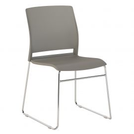 Bush Business Furniture Corporate Stackable Chairs Set of 2 in Gray