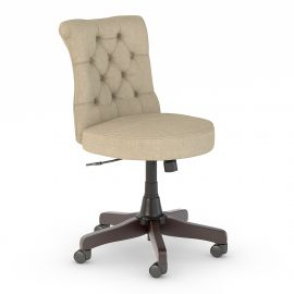 Bush Business Furniture Arden Lane Mid Back Tufted Office Chair in Tan Fabric