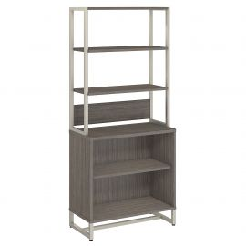 Office by kathy ireland® Method Bookcase with Hutch in Cocoa