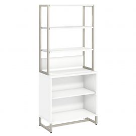 Office by kathy ireland® Method Bookcase with Hutch in White