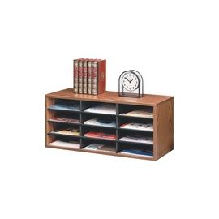 12-Compartment Sorter Literature Organizer