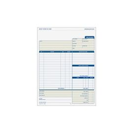 Three-part Carbonless Job Invoice Forms