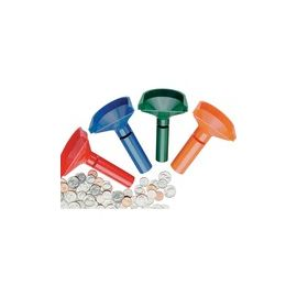 Color-keyed Coin Counting Tube Set