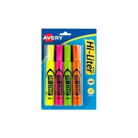 Desk-Style, Assorted Colors, 4 Count (24063)