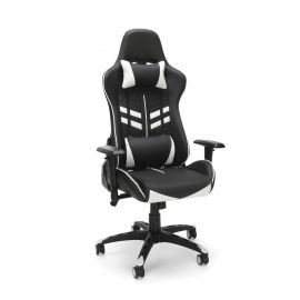 OFM Essentials Collection Racing Style Gaming Chair, in White (ESS-6065-WHT)