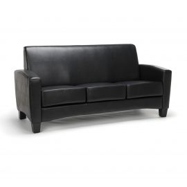 Essentials Collection Traditional Reception Sofa, in Black (ESS-9052-BLK)