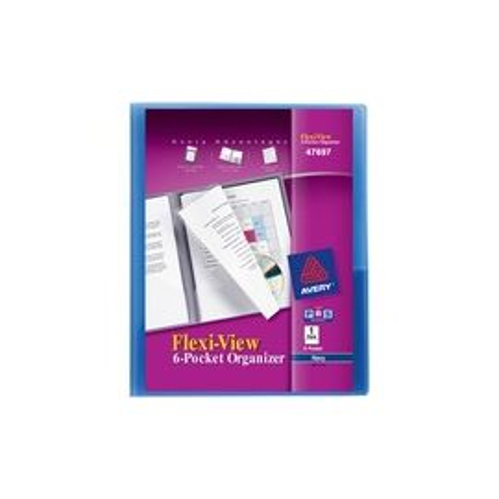 Title-View 6 Pocket Organizer, Assorted Color, 1 Folder (47697)