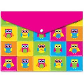 Owls Design Snap Poly Folders