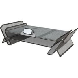 DeskTek Monitor Stand with Storage Areas, Shelf, and Phone Mount - 30645
