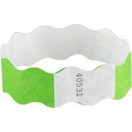 Wavy Wristbands with Adhesive