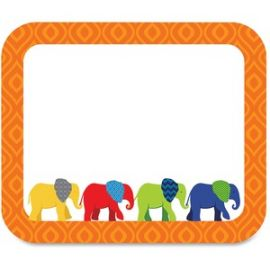 Parade of Elephants Colorful Name Tags
