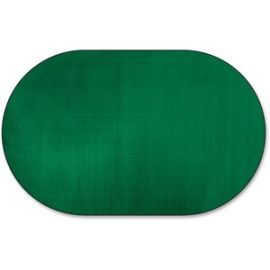 Classic Solid Color 9' Oval Rug