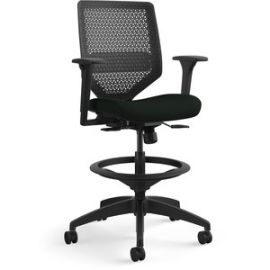 Solve Black Frame ReActiv Back Task Stool