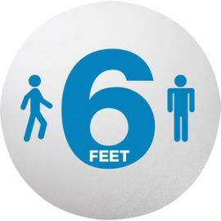 Blue 6 Feet Printed Personal Spacing Disks