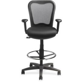 Mesh-back Drafting Stool