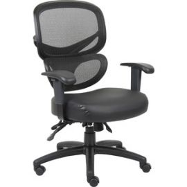 Mesh-Back Leather Executive Chair