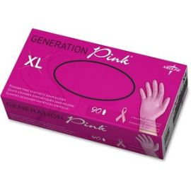 Pink BCA Vinyl Exam Gloves