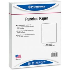 11-Hole Velobind Pre-Punched Paper for Presentations & Reports