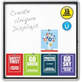 Enclosed Magnetic Outdoor Whiteboard