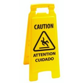 2-sided Multilingual Caution Sign