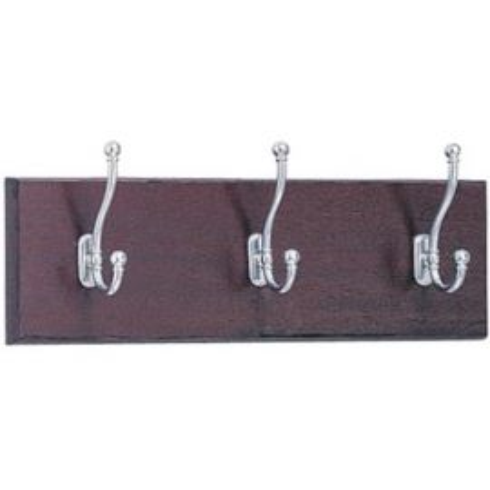 3-Hook Wood Wall Rack