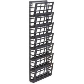 7-pocket Grid Magazine Rack