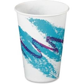 Jazz Design Waxed Paper Cold Cups